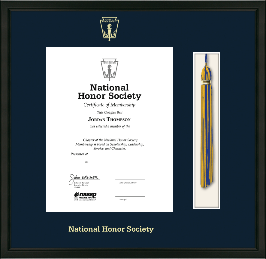 Best Motivational Quotes For Students: National Honor Society Tassel Edition Certificate Frame In
