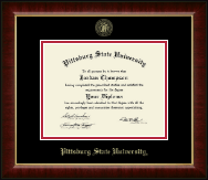 Pittsburg State University Diploma Frame - Gold Embossed Diploma Frame in Murano