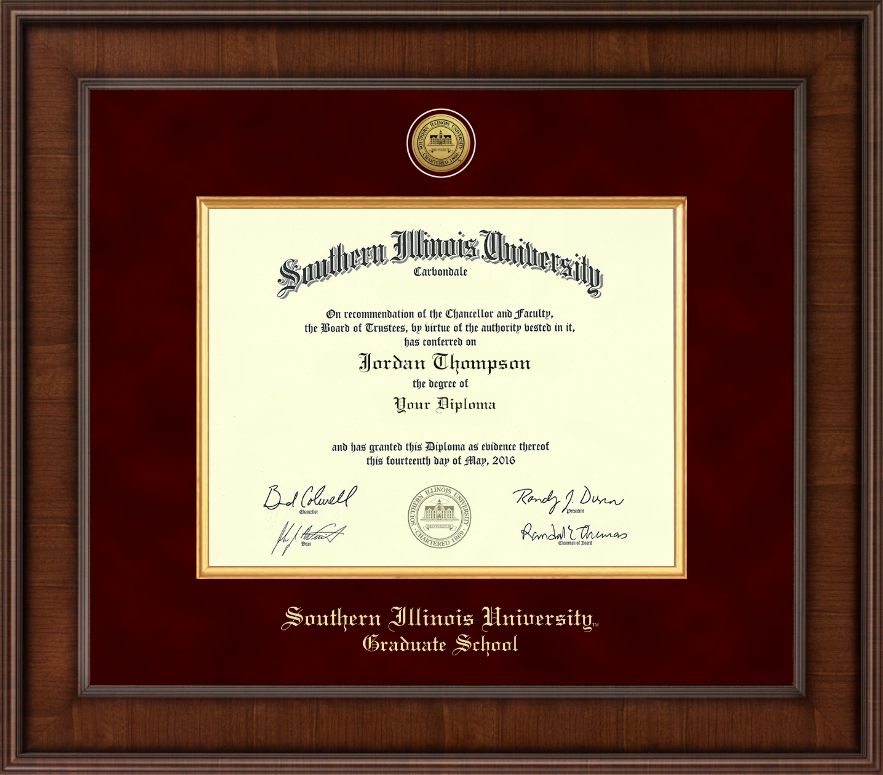 Southern Illinois University Carbondale Presidential Gold Engraved ...