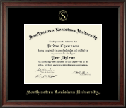 Southeastern Louisiana University Diploma Frame - Gold Embossed Diploma Frame in Studio