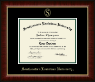 Southeastern Louisiana University Diploma Frame - Gold Embossed Diploma Frame in Murano