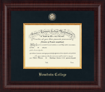Bowdoin College Diploma Frame - Presidential Masterpiece Diploma Frame in Premier