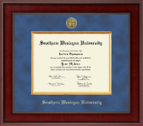 Southern Wesleyan University Diploma Frame - Presidential Gold Engraved Diploma Frame in Jefferson