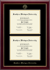 Southern Wesleyan University Diploma Frame - Double Diploma Frame in Gallery