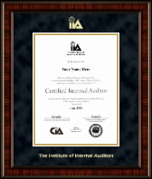 The Institute of Internal Auditors Certificate Frame - Gold Embossed Certificate Frame in Ridgewood