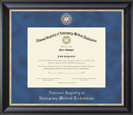 National Registry of Emergency Medical Technicians Certificate Frame - Regal Edition Certificate Frame in Midnight