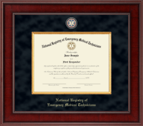 National Registry of Emergency Medical Technicians Certificate Frame - Presidential Masterpiece Certificate Frame in Jefferson
