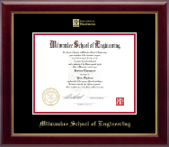 Milwaukee School of Engineering Diploma Frame - Gold Embossed MSOE Business Logo Diploma Frame in Gallery
