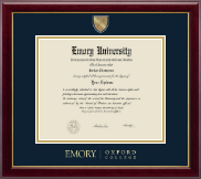 Emory Oxford College Diploma Frame - Masterpiece Medallion Diploma Frame in Gallery