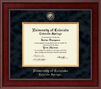 University of Colorado Colorado Springs Diploma Frame - Presidential Masterpiece Diploma Frame in Jefferson