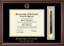 University of Colorado Colorado Springs Diploma Frame - Tassel Edition Diploma Frame in Newport