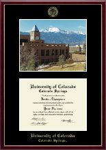 University of Colorado Colorado Springs Diploma Frame - Campus Scene Edition Diploma Frame in Galleria