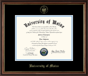 The University of Maine Orono Diploma Frame - Gold Embossed Diploma Frame in Williamsburg