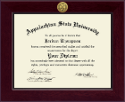 Appalachian State University Diploma Frame - Century Gold Engraved Diploma Frame in Cordova