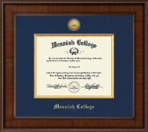 Messiah College Diploma Frame - Presidential Gold Engraved Diploma Frame in Madison