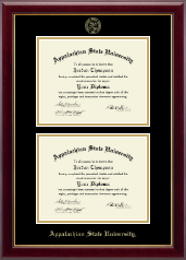 Appalachian State University Diploma Frame - Double Diploma Frame in Gallery