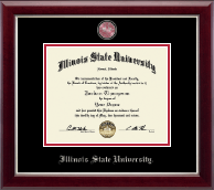 Illinois State University Diploma Frame - Masterpiece Medallion Diploma Frame in Gallery Silver