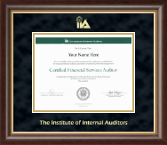The Institute of Internal Auditors Certificate Frame - Gold Embossed Certificate Frame in Hampshire