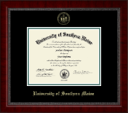 University of Southern Maine Diploma Frame - Gold Embossed Diploma Frame in Sutton