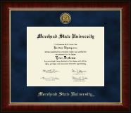 Morehead State University Diploma Frame - Gold Engraved Medallion Diploma Frame in Murano