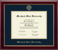 Morehead State University Diploma Frame - Gold Embossed Diploma Frame in Gallery