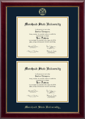 Morehead State University Diploma Frame - Double Diploma Frame in Gallery