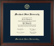 Morehead State University Diploma Frame - Gold Embossed Diploma Frame in Studio
