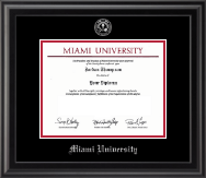 Miami University Diploma Frame - Silver Embossed Diploma Frame in Midnight