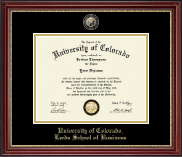 University of Colorado Boulder Diploma Frame - Masterpiece Medallion Diploma Frame in Kensington Gold