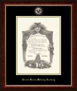 United States Military Academy Diploma Frame - Masterpiece Medallion Diploma Frame in Murano