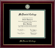 McDaniel College Diploma Frame - Masterpiece Medallion Diploma Frame in Gallery