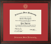 Arkansas State University at Jonesboro Diploma Frame - Gold Embossed Diploma Frame in Studio