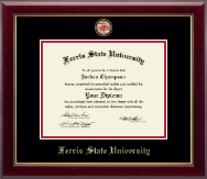 Ferris State University Diploma Frame - Masterpiece Medallion Diploma Frame in Gallery