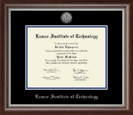Lamar Institute of Technology Diploma Frame - Silver Engraved Medallion Diploma Frame in Devonshire