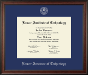 Lamar Institute of Technology Diploma Frame - Silver Embossed Diploma Frame in Studio