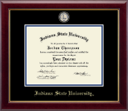 Indiana State University Diploma Frame - Masterpiece Medallion Diploma Frame in Gallery