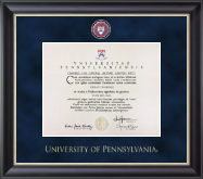University of Pennsylvania Diploma Frame - Regal Edition Diploma Frame in Noir
