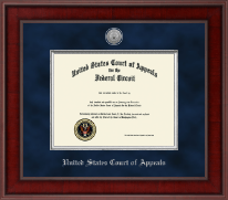The United States Court of Appeals Certificate Frame - Presidential Silver Engraved Certificate Frame in Jefferson