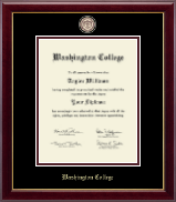 Washington College Diploma Frame - Masterpiece Medallion Diploma Frame in Gallery