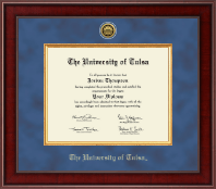 The University of Tulsa Diploma Frame - Presidential Gold Engraved Diploma Frame in Jefferson