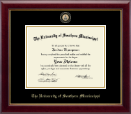 The University of Southern Mississippi Diploma Frame - Masterpiece Medallion Diploma Frame in Gallery