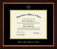Appalachian School of Law Diploma Frame - Gold Embossed Diploma Frame in Murano
