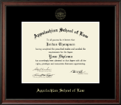 Appalachian School of Law Diploma Frame - Gold Embossed Diploma Frame in Studio