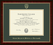 Dartmouth College Diploma Frame - Gold Embossed Diploma Frame in Murano
