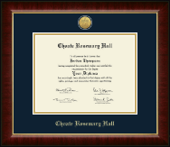 Choate Rosemary Hall Diploma Frame - Gold Engraved Medallion Diploma Frame in Murano
