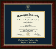 Quinnipiac University Diploma Frame - Gold Embossed Diploma Frame in Murano
