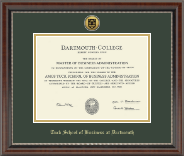 Dartmouth College Diploma Frame - Gold Engraved Medallion Diploma Frame in Chateau