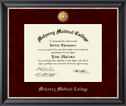 Meharry Medical College Diploma Frame - 23K Medallion Diploma Frame in Midnight