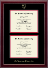 St. Lawrence University Diploma Frame - Double Diploma Frame in Gallery