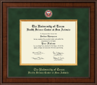 UT Health Science Center at San Antonio Diploma Frame - Presidential Masterpiece Diploma Frame in Madison